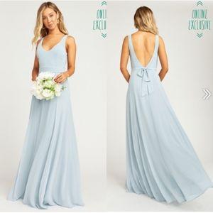NEW Show Me Your Mumu Jenn BLUE Maxi Dress Gown L